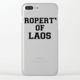 Property of LAOS Clear iPhone Case