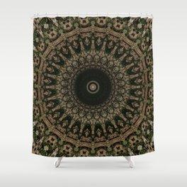 Mandala in different brown tones Shower Curtain