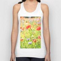 poppies Tank Tops featuring Poppies by Falko Follert Art-FF77