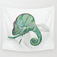 chameleon Wall Tapestries featuring CHAMELEON by EDENLAND