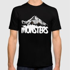 Monsters ( The Living Mountain ) Mens Fitted Tee MEDIUM Black