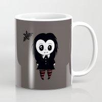 vampire diaries Mugs featuring Vampire by Chrystal Elizabeth