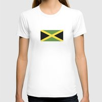 jamaica T-shirts featuring jamaica country flag  by tony tudor