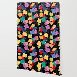 Multi-colored flaps, retro Wallpaper