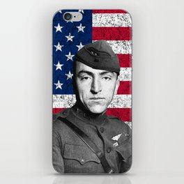 Eddie Rickenbacker And The American Flag iPhone Skin