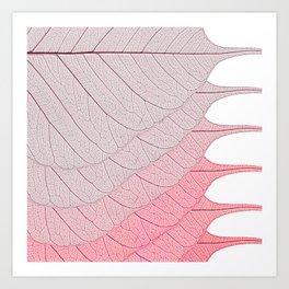 Leaves Red Art Print