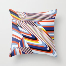 Over Lines Throw Pillow