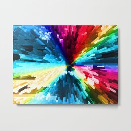 Extended Rectangles - Color Burst Metal Print