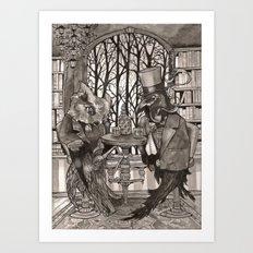 The Owl & The Raven Art Print