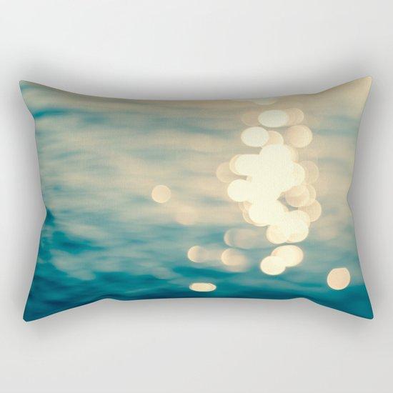 Blurred Tides Rectangular Pillow