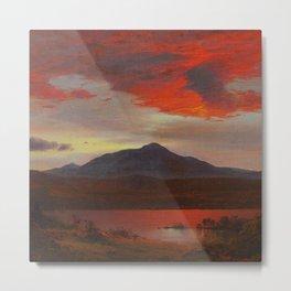 "Frederic Church ""Twilight"" Metal Print"