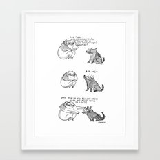 The all knowing woofular unit Framed Art Print