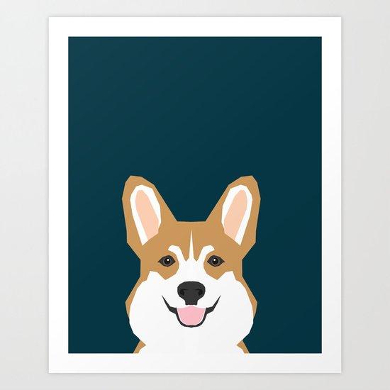 Teagan - Corgi Welsh Corgi gift phone case design for pet lovers and dog people Art Print
