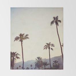 Palm Trees in the Desert Throw Blanket