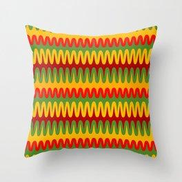 African Waves Throw Pillow