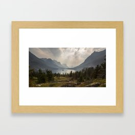 Panoramic Landscape Mountains & Lake Framed Art Print