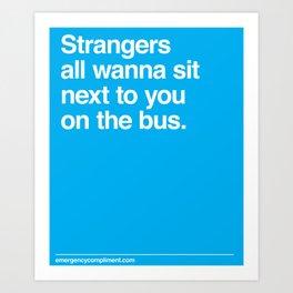 Bus Strangers Art Print