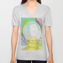 Fairy landscape with bubbles Unisex V-Neck