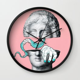 MONSTERS INSIDE YOU! / Marble statue head Wall Clock