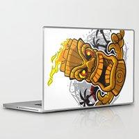 tiki Laptop & iPad Skins featuring Tiki by Eye Opening Design