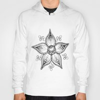 henna Hoodies featuring Henna Flower by Ava Elise