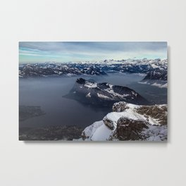 Lake Lucerne & the Alps Metal Print