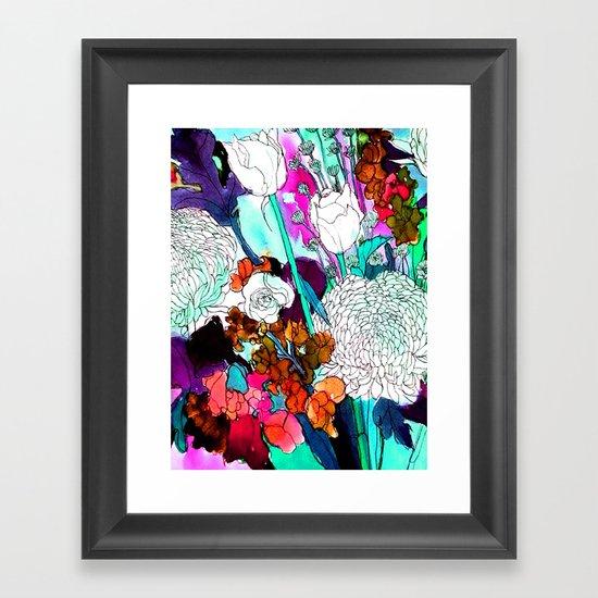 forest flowers 3 Framed Art Print