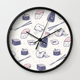 Enjoy Happy Sushi Wall Clock