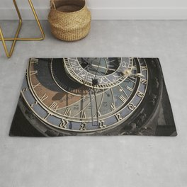 Astronomical clock Prague Rug