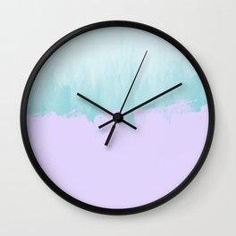 Purple Tiffany Blue Watercolor Wall Clock