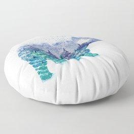 Polar Bear Pine Trees and Snow Floor Pillow