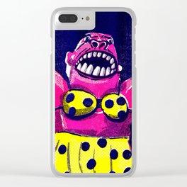 Teeny Weeny Yellow Polka Dot Bikini Gorilla Clear iPhone Case