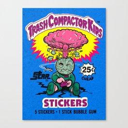 TRASH COMPACTOR KIDS Canvas Print