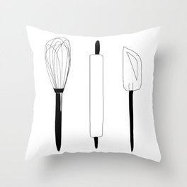 Baking Weapons Throw Pillow