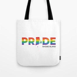 Rhode Island LGBTQ Pride (Black) Tote Bag