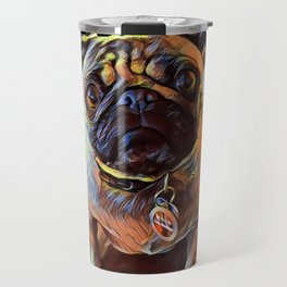 The PUG from our POP YOUR POOCH line Travel Mug
