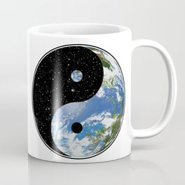 Earth / Space Yin Yang Coffee Mug