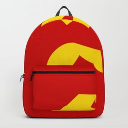 Soviet Union Hammer and Sickle Communist flag. Backpack