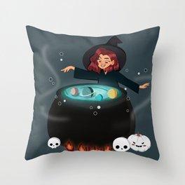 Cauldron of Galaxy Throw Pillow
