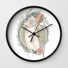 blackened doily Wall Clock