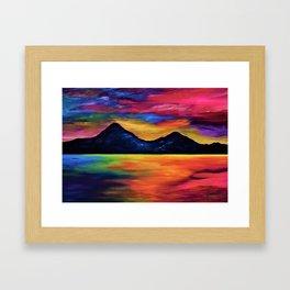 Tropical Sunset at Murlough Framed Art Print