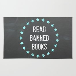 Read Banned Books Rug