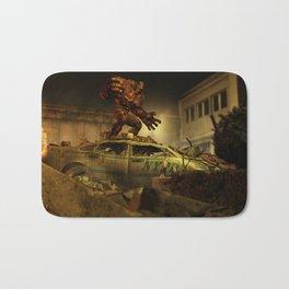 The Infernal Behemoth - Hell in The City - Fantasy  Artwork Bath Mat
