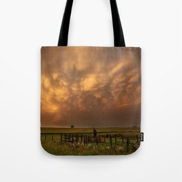Afterglow - Clouds Glow After Storms at Sunset Tote Bag