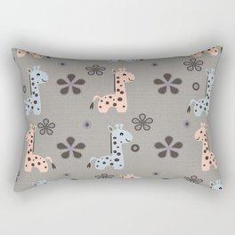 Boy Giraffe Playland Rectangular Pillow
