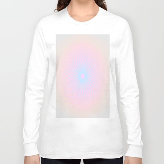 Pink Honeycomb Long Sleeve T-shirt