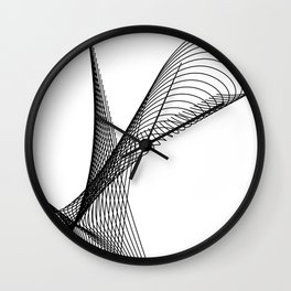 """""""Script Collection"""" - Minimal Letter N Print Wall Clock"""