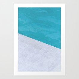 Poolside Playdate Art Print