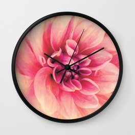 Her Smile (Spring Blooming Rose Pink Dahlia) Wall Clock