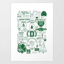 Dartmouth Massachusetts Print Art Print